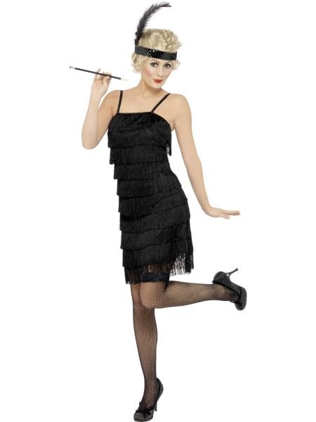 104f71afb503 Kostým 20. léta - černý krátký - Půjčovna kostýmů Praha